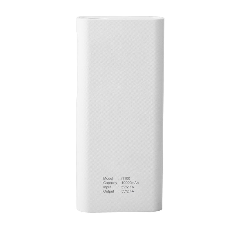 iKary i-1100 10000 mAh Lithium ION Power Bank (White) - AmbraneIndia