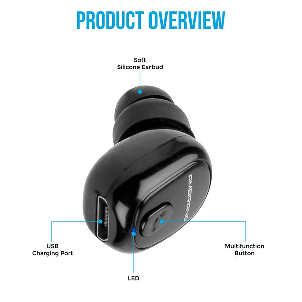 H9 In-Ear Mono True Wireless Earbud (Black)