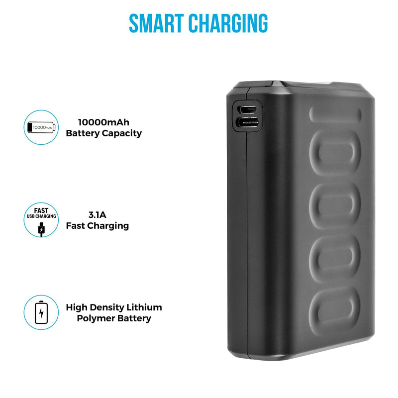 Stylo 10F 10,000 mAh QC 3.0 & PD Technology Enabled Lithium Polymer Power Bank (PP-107, Black) - Ambrane India Pvt Ltd