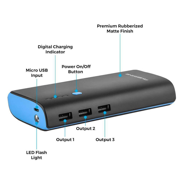 P-1022 (10000mAh) POWER BANK (Blue/Black)
