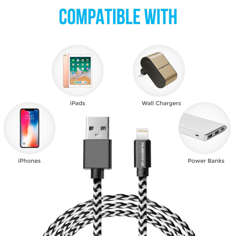 ABCL-15 iPhone Lightning Braided Cable (1.5 Meter)