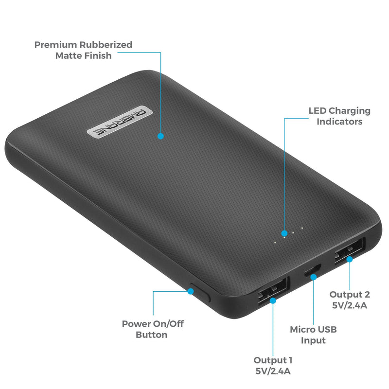 PP-101 10,000 mAh Polymer Power Bank (Black)