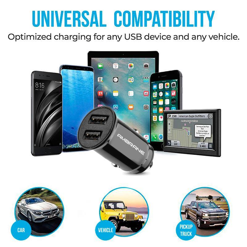 ACC-56 Dual USB Port Compact Size Car Charger (Black)
