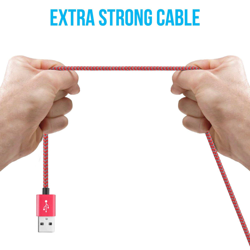 AMC-11 iPhone Lightning Cable - 1 Meter (Red & Grey) - Ambrane India Pvt Ltd
