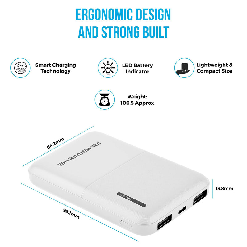 ambrane 5000mah power bank price
