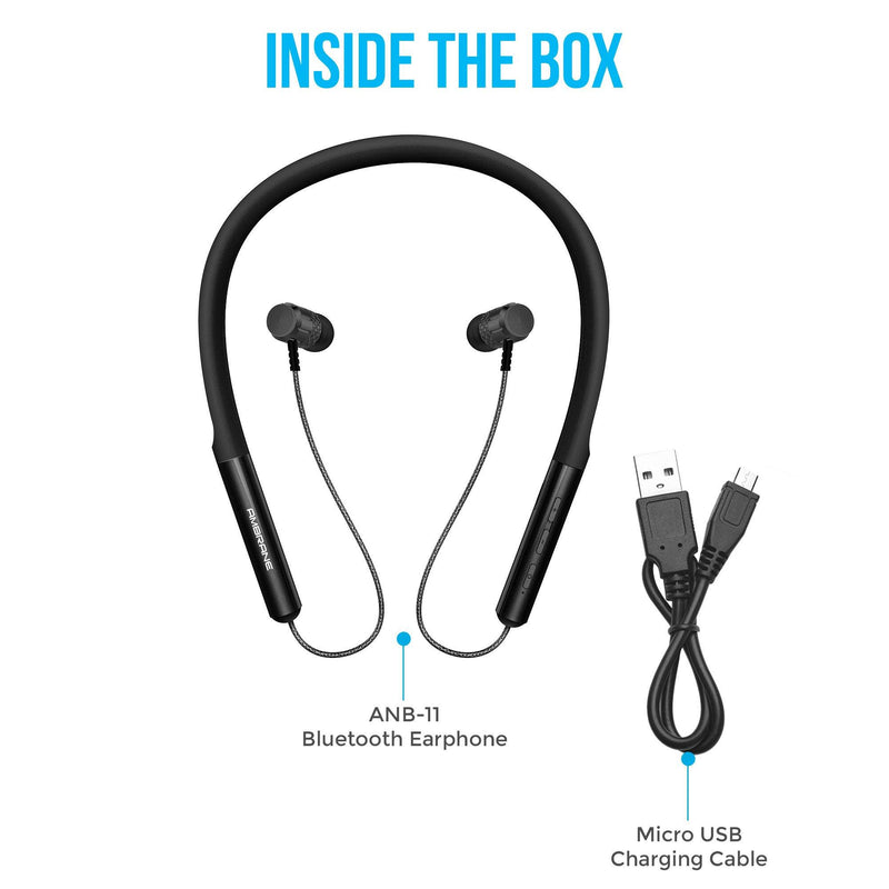 Neko (ANB-11) Neckband Earphone with Mic & SD Card Slot (Black)