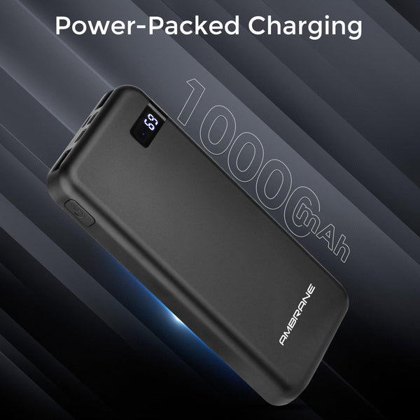 Ambrane PW-18 Wireless PowerBank 10000mAh (Black) - AmbraneIndia
