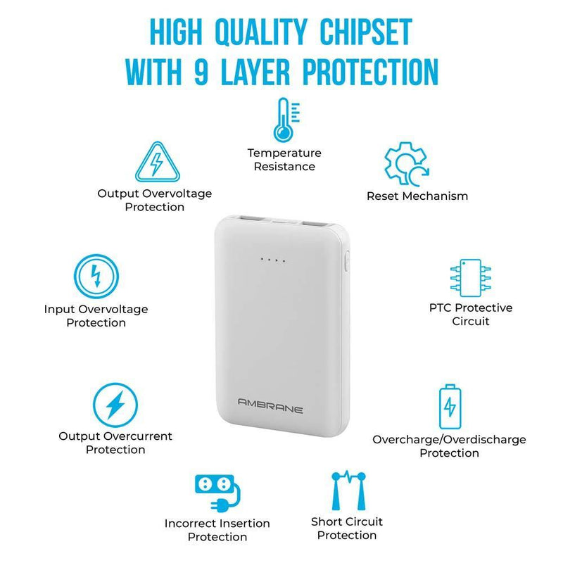 PP-501 5000 mAh Compact Size Power Bank | Best Smartphone Power Bank