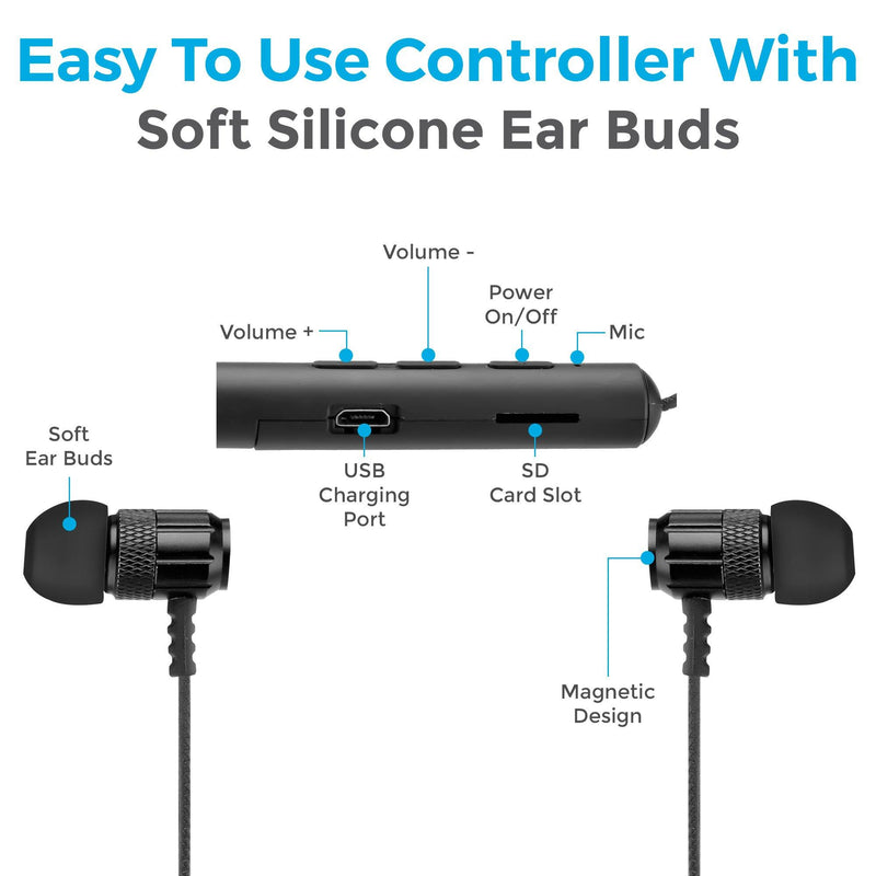 bluetooth earphone with magnet