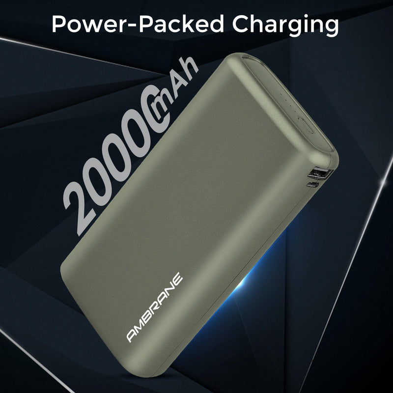 Neos 20000 mAh Lithium Polymer Power Bank (Midnight Green ) | Best Portable Power Bank 20000mAh