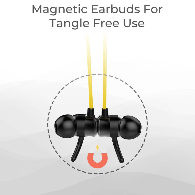 Ambrane ANB-33 Neckband Earphones (Yellow / Black) - Ambrane India Pvt Ltd