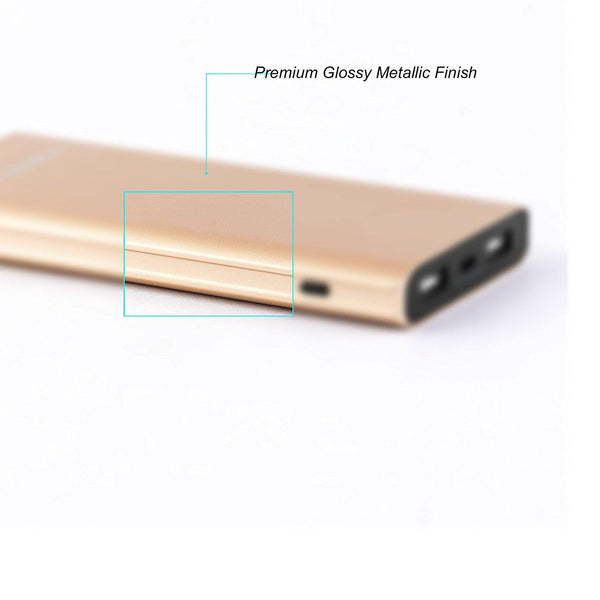 Ambrane PP-1100 (10000mAh) Power Bank (Gold)