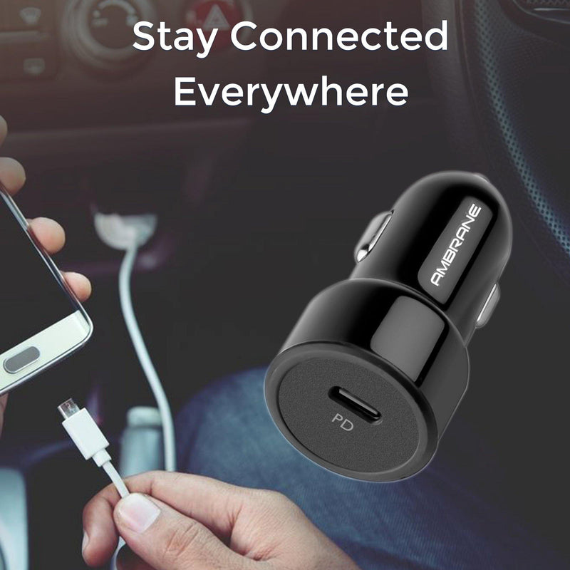 ACC-83 Pro Power Delivery (PD) Car Charger (Black)