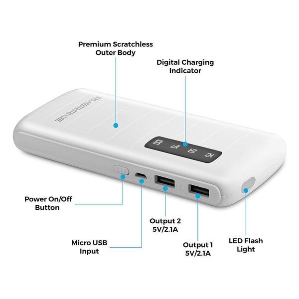 P-1144 10000mAH Lithium Ion Power Bank - AmbraneIndia