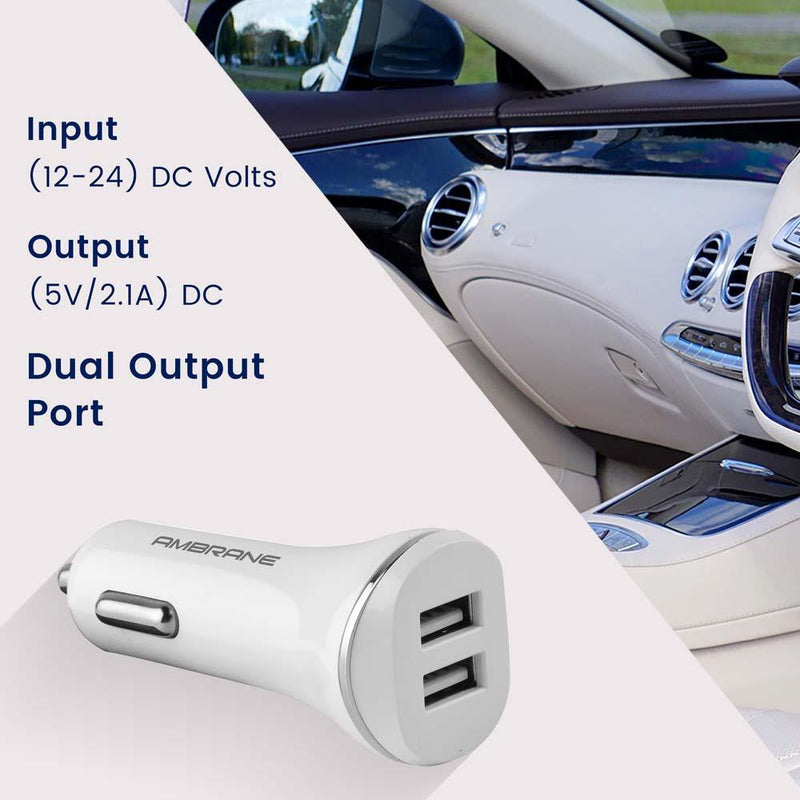 ACC-66 Dual Port Turbo Universal Car Charger - AmbraneIndia