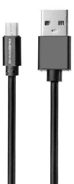 ACM-20 3A Micro USB Fast Charging Cable 2 Meter - (Black) - Ambrane India Pvt Ltd