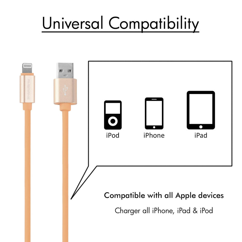 AIC-11 iPhone Lighting Cable (1M, Light Brown) - Ambrane India Pvt Ltd