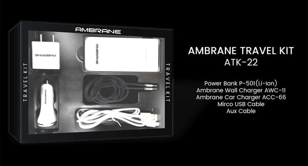 Ambrane Travel Kit ATK-22 - Ambrane India Pvt Ltd
