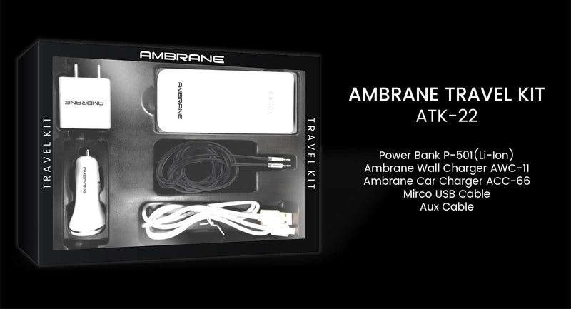Ambrane Travel Kit ATK-22