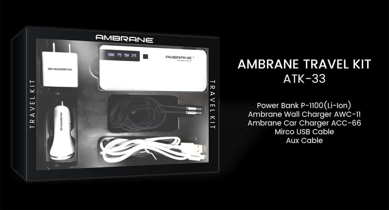 Ambrane Travel Kit ATK-33 - Ambrane India Pvt Ltd