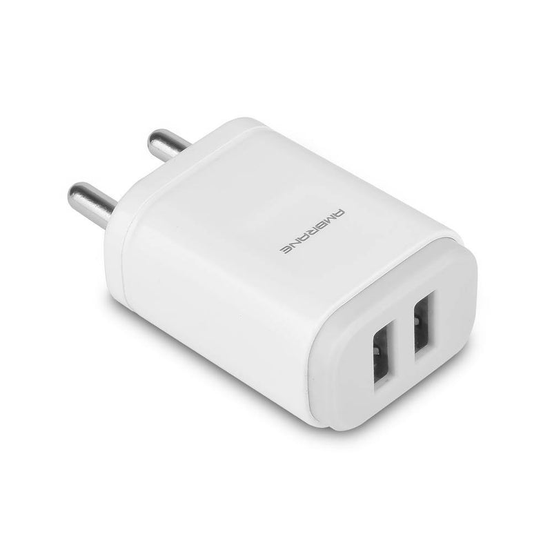 AWC-29 2.4A Dual Port Fast Wall Charger (White)