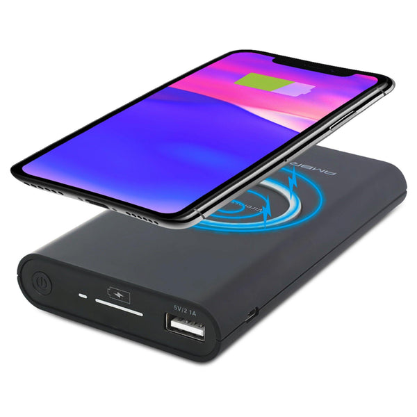 Ambrane PW-20 10000mAh Wireless Powerbank (Black)
