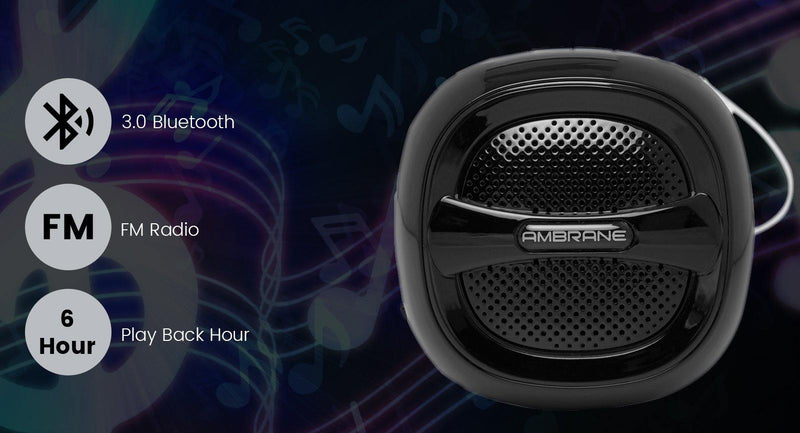 BT-5000 3W Portable Bluetooth Speaker (Black)