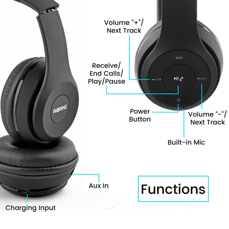 WH-11 Over The Ear Headphones (Black)