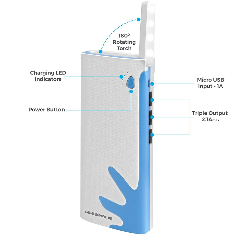 P-1122 10000mAH Lithium-Ion Power Bank