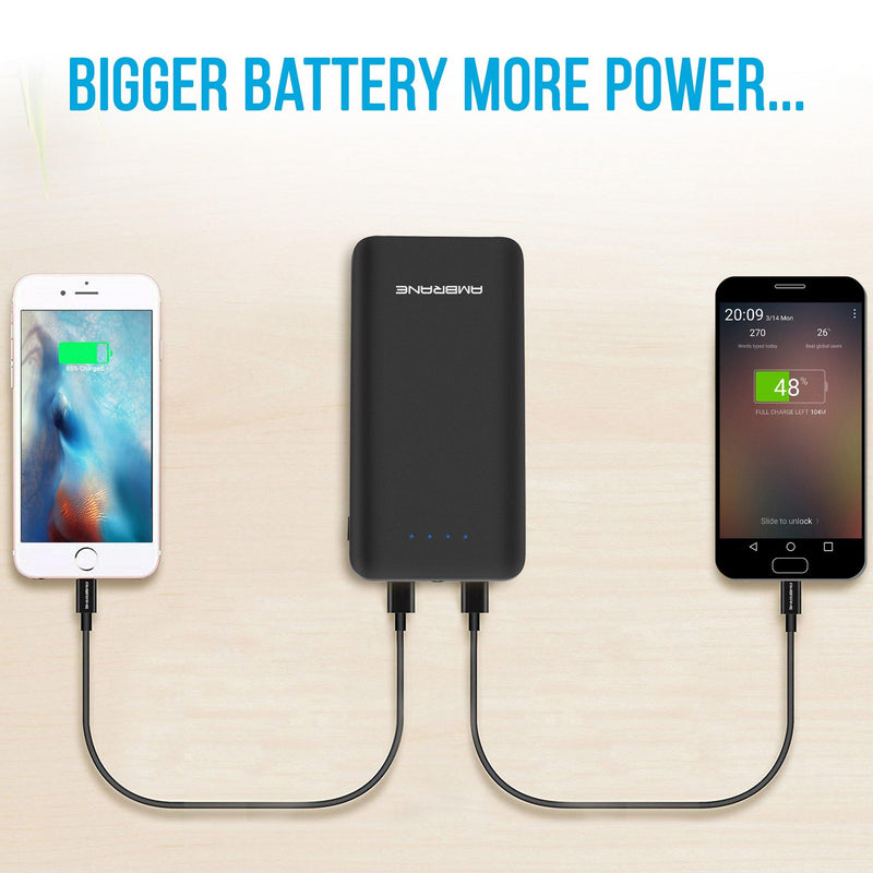 PP-30 30,000 mAh Power Bank with QC 3.0 Technology (Black) - AmbraneIndia