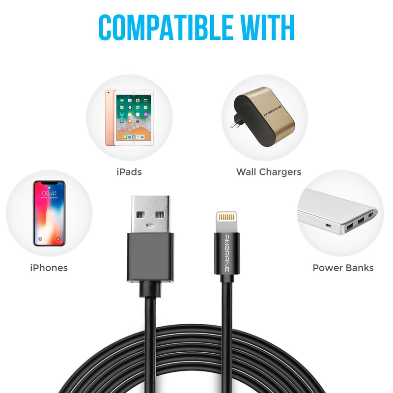ACL-1 Lightning to USB Cable for iPhone (1 Meter, 3.3 Feet) - (White)