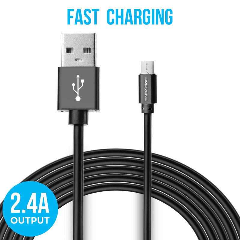 ACM-20 Micro USB Fast Charging Cable (2 Meter, 6 Feet) - (Black)