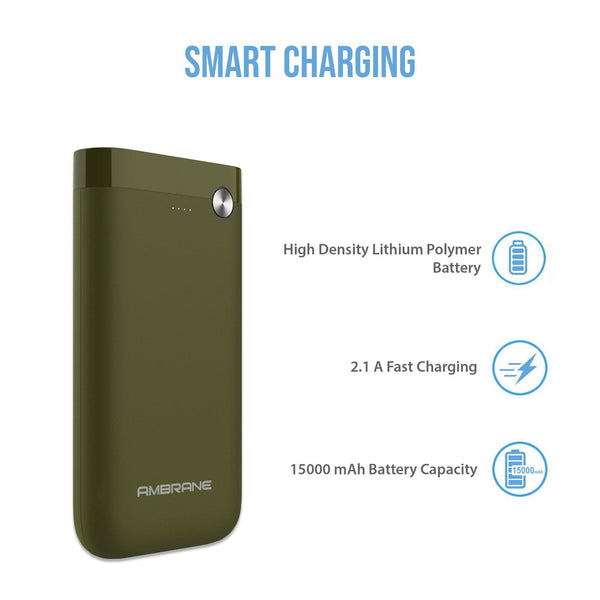 PP-150 15000 mAh Power Bank (Green)