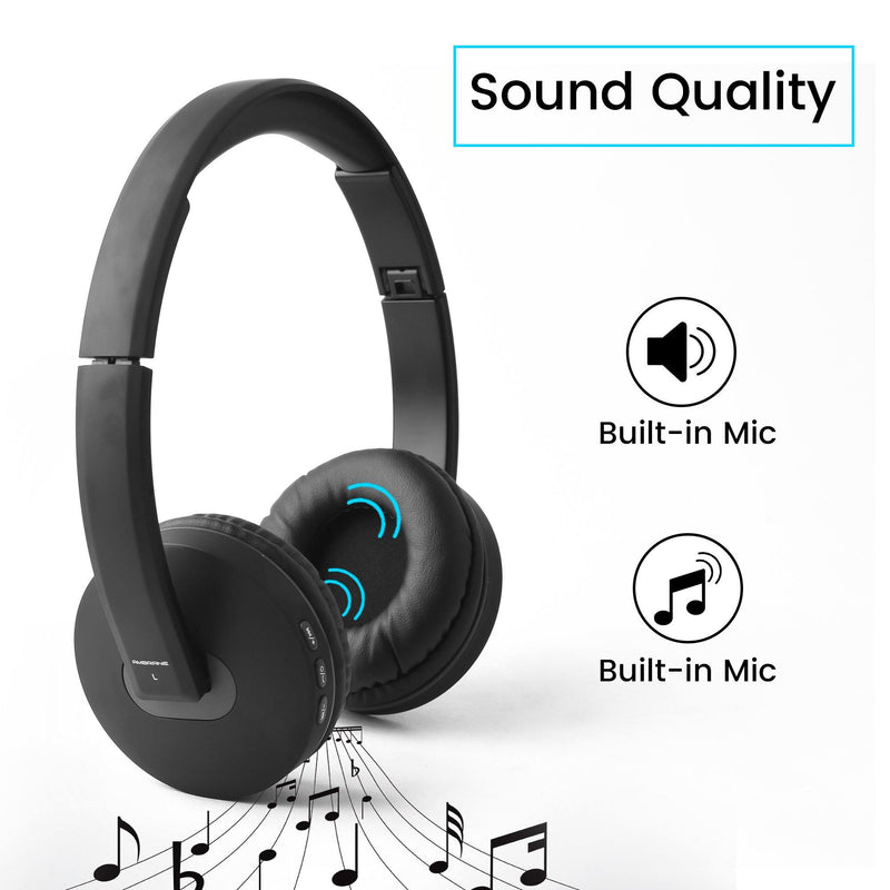 8ed6aa12022 WH-5600 Bluetooth Headphones with Mic (Black, Over the Ear ...