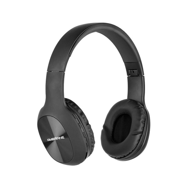 WH-65 Over The Ear Wireless Headphones With Mic, Wireless FM, Aux & SD Card Support (Black) - AmbraneIndia