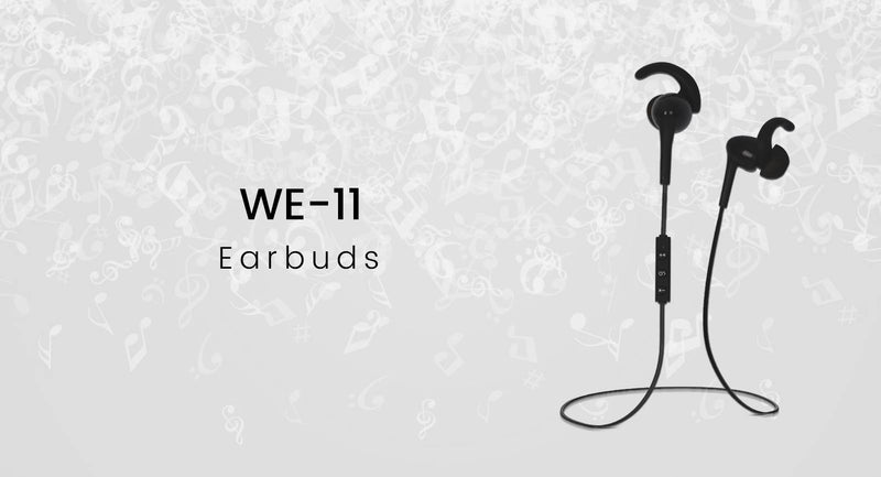 WE-11 Wireless Collar Earphones (Black)