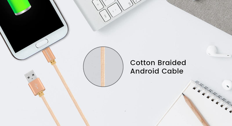 AAC-22 Cotton Braided Charge USB Cable