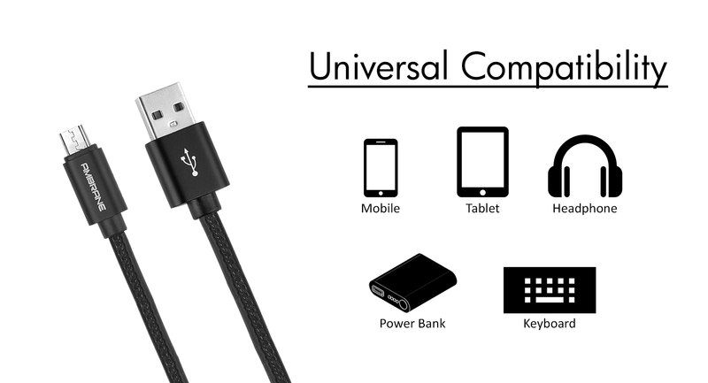 AAC-33 Premium Leather Finish Charge  USB Cable