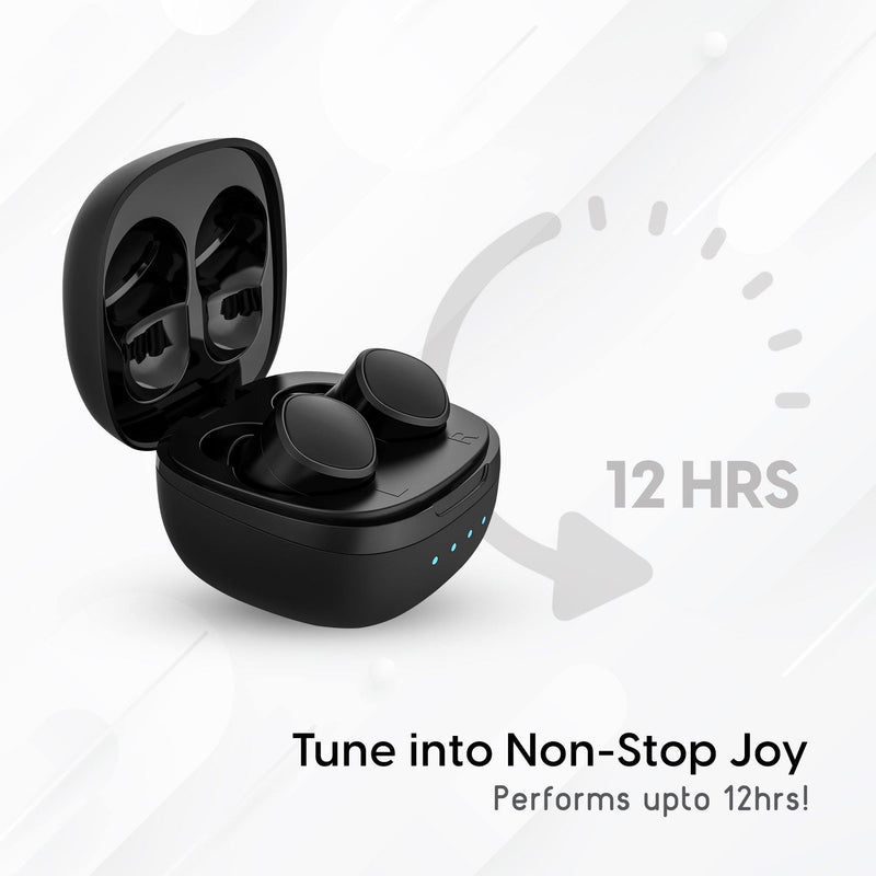 Ambrane NeoBuds 22 True Wireless Earphones (Black) - AmbraneIndia