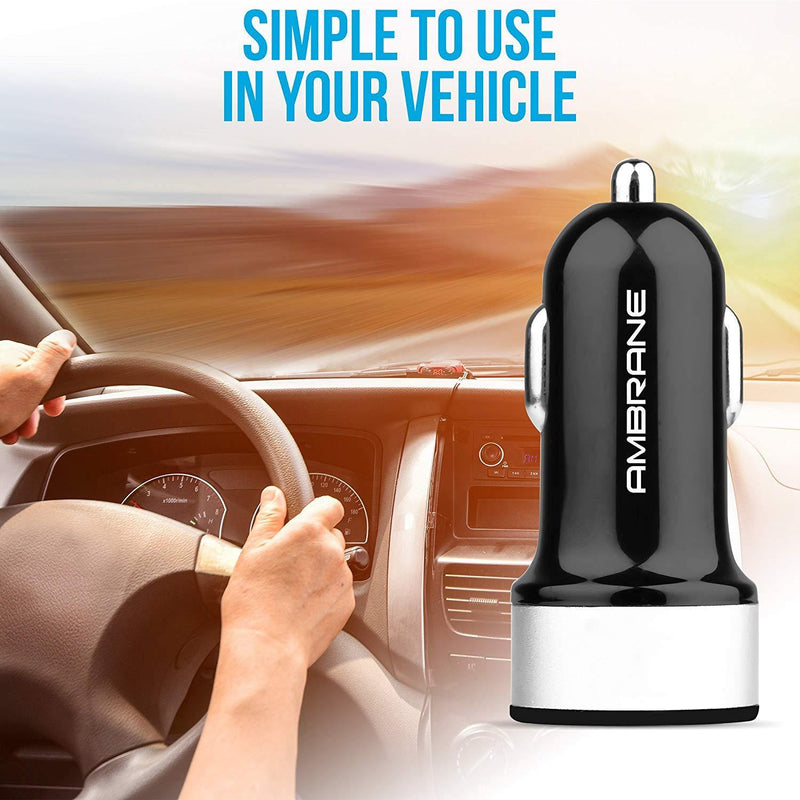 ACC-20 Swift Dual Port Car Charger 4.8A (Black)