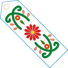 Como La Flor Bookmark Design for 4x4 and 5x7 hoops
