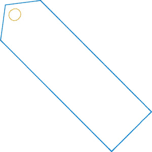 BLANK Bookmark Design for 4x4 and 5x7 hoops