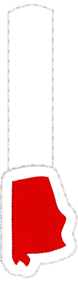 Tiny Alabama snap tab In The Hoop embroidery design
