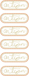 Artisan lettering Mini Patch embroidery design