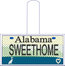 Alabama Plate Embroidery Snap Tab