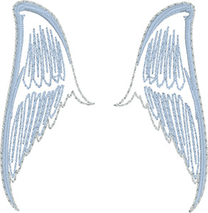 Angel Wing Earrings ITH embroidery design