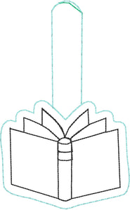 Book snap tab embroidery design