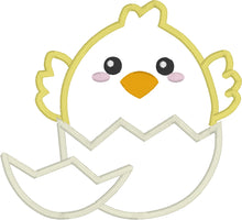 Kawaii Chick Applique Design - 4x4 5x7 Cute Chick Applique