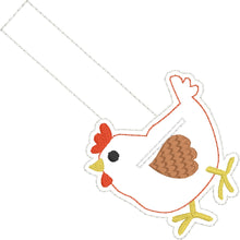 Chicken snap tab QUARTER KEEPER embroidery design