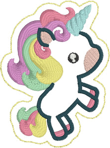 Cute Unicorn Feltie embroidery design